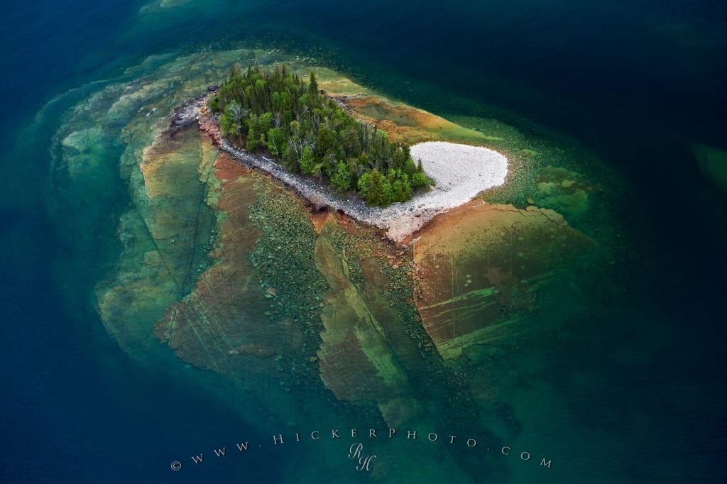 Free Wallpaper: Abstract Aerial Art Picture Lake Superior
