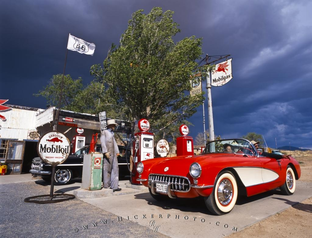 Old Gas Station Old Car Historic Route 66