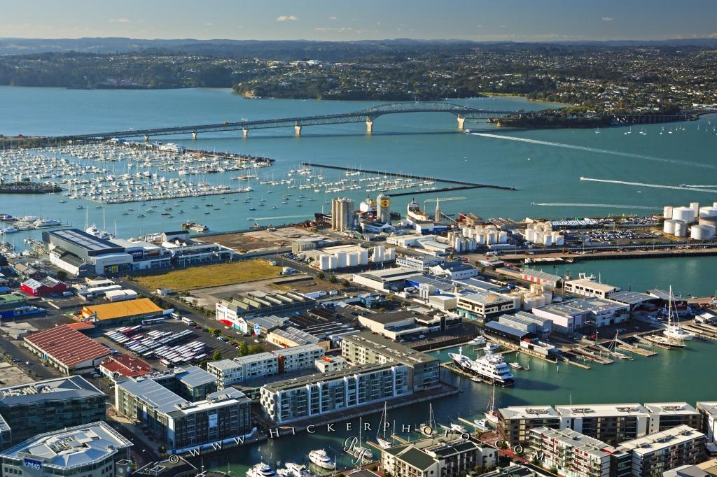 Aerial View Auckland Harbour Bridge