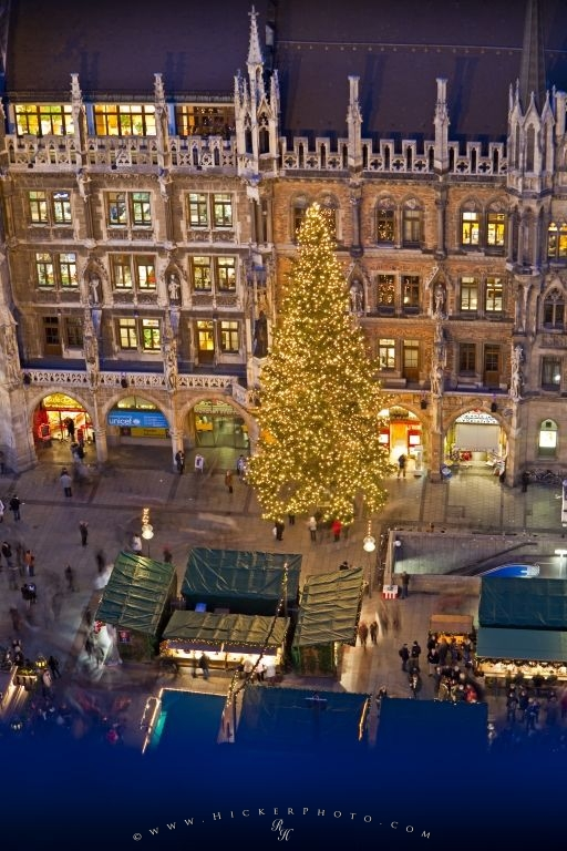 Christmas Markets Aerial View Munich