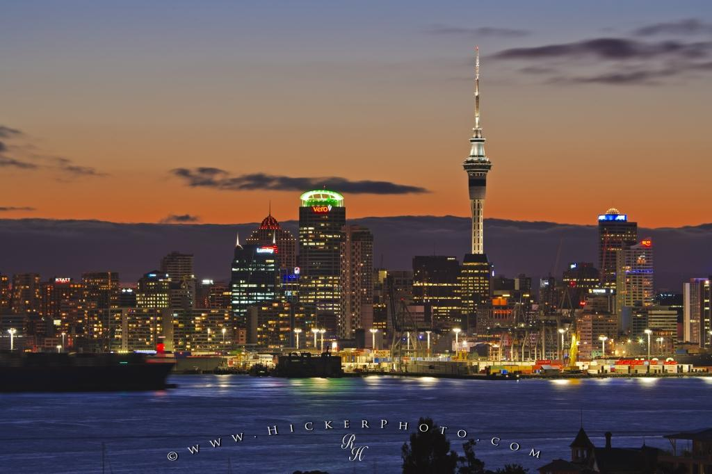 Photo Auckland City Night Picture