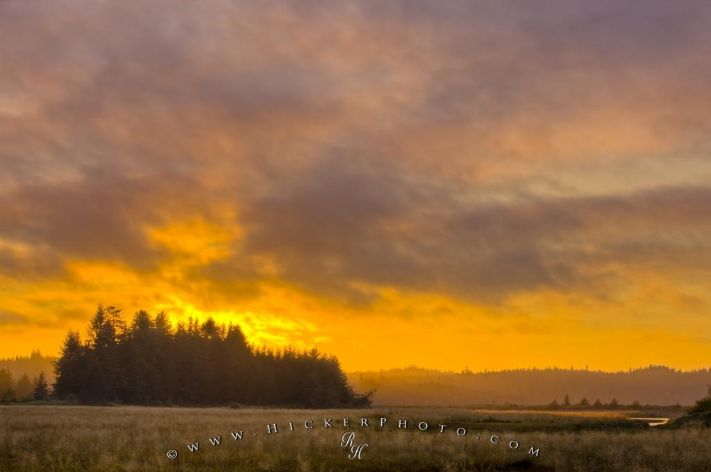 Beautiful Cluxewe River Estuary Sunset British Columbia