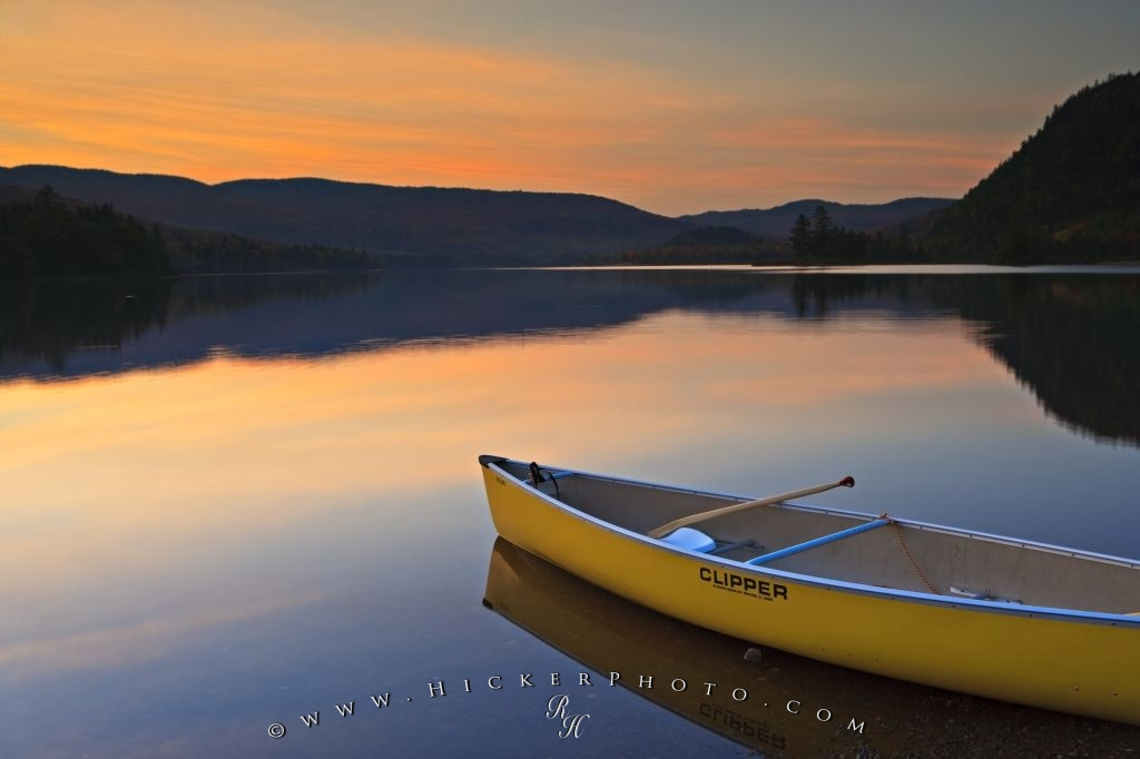 Photo Beautiful Lake Sunset Lake Monroe Quebec