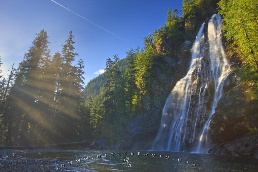 Photo Beautiful Waterfall Picture Virgin Falls West Coast Vancouver Island