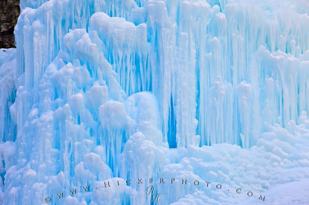 Blue Ice Wall Scenic Winter Waterfall Picture
