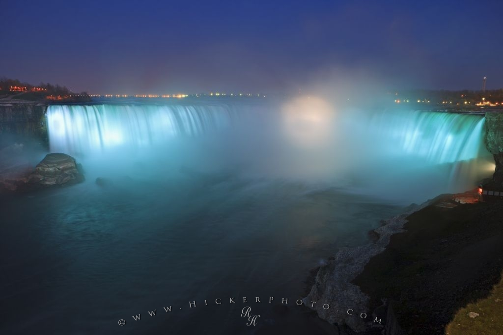 Blue Light Display Niagara Falls Ontario