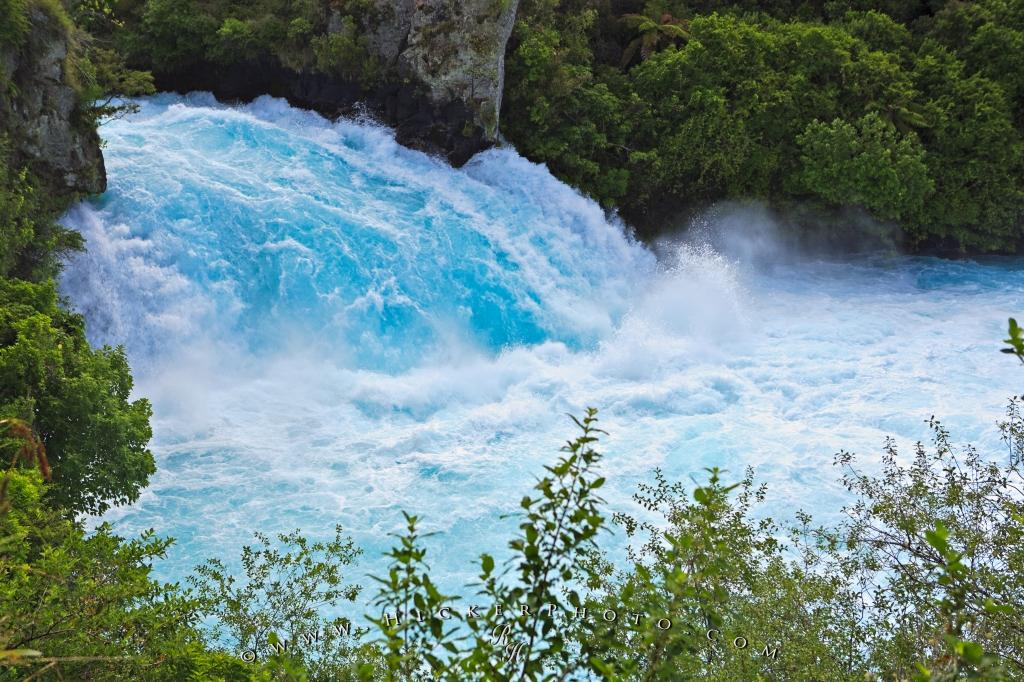 Blue Waterfall Huka Falls Taupo New Zealand