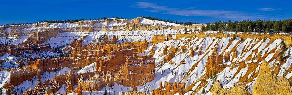 Panorama Photo Bryce Canyon National Park Winter