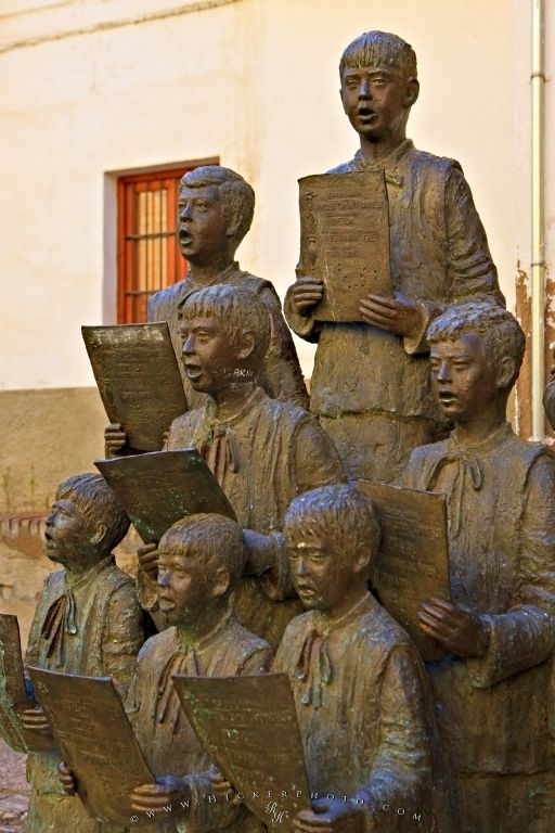 Choir Statue Guadix Cathedral Andalucia Spain