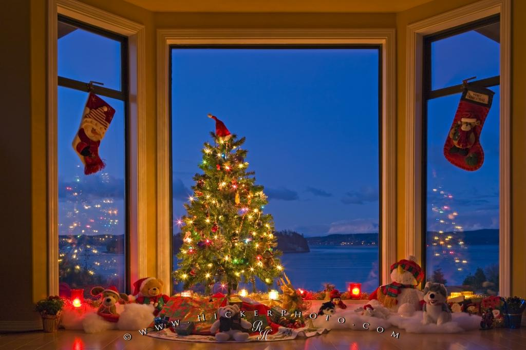 all warm and cozy inside and cool outside this warming photo shows a serene christmas