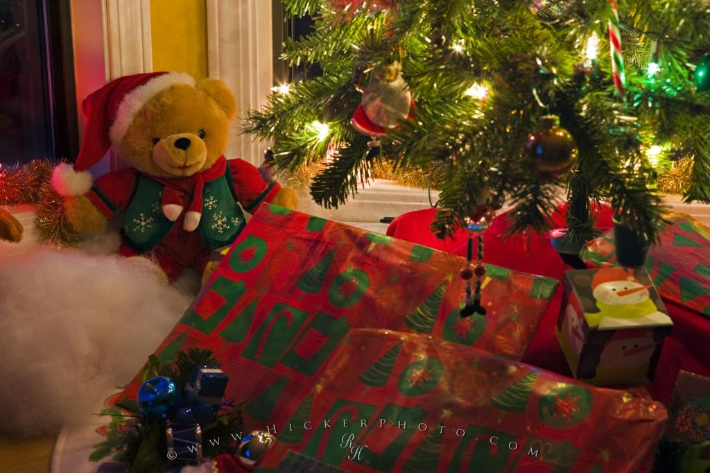 Christmas Gifts Scene Photo Information