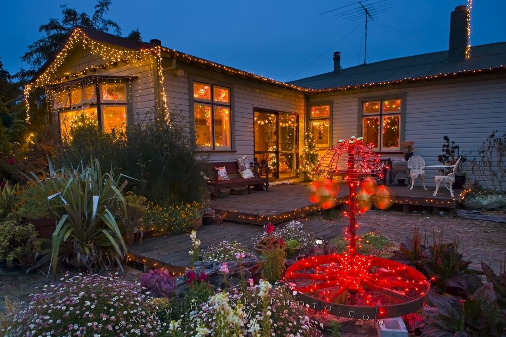 photo of one section of the christmas light display seen on a tour at a private residence in otago new zealand