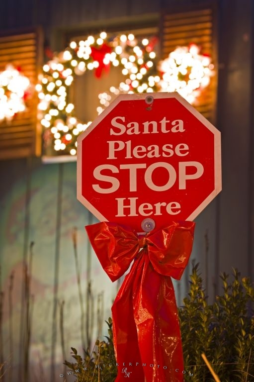 Funny Christmas Stop Sign Photo Information