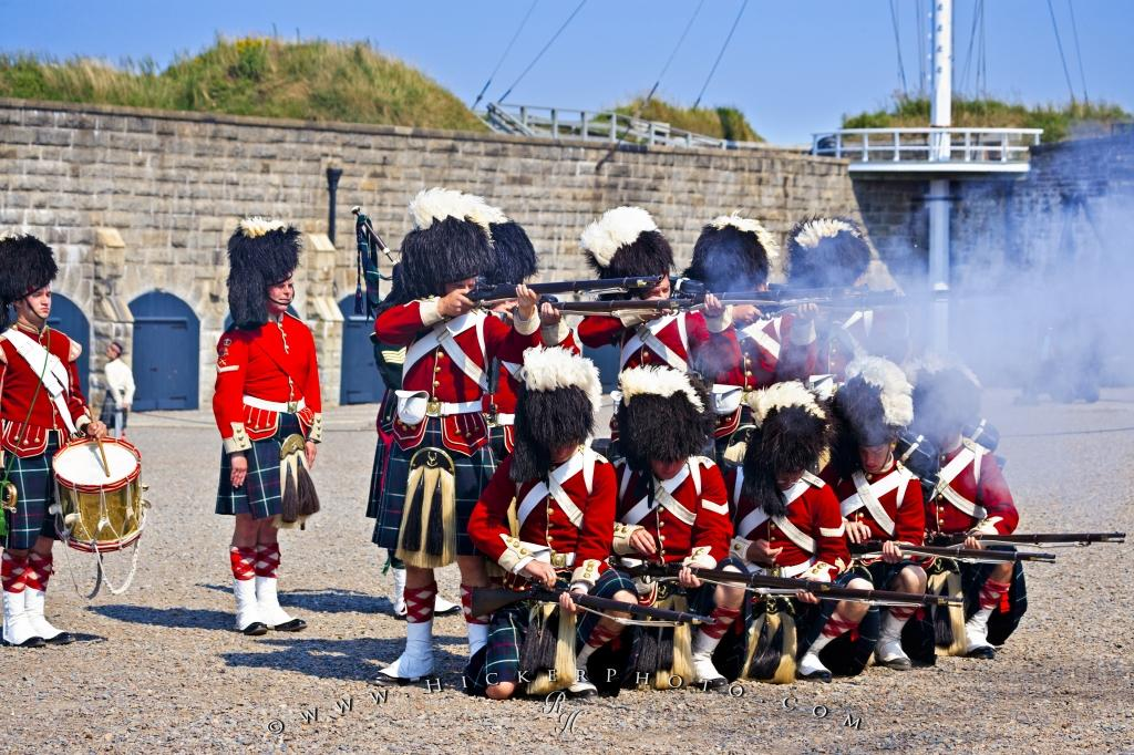 Citadel Military Rifle Demonstration Halifax Nova Scotia Canada