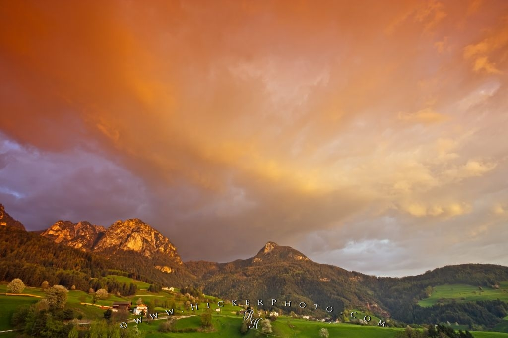 Croda Di Maglio South Tyrol Sunset