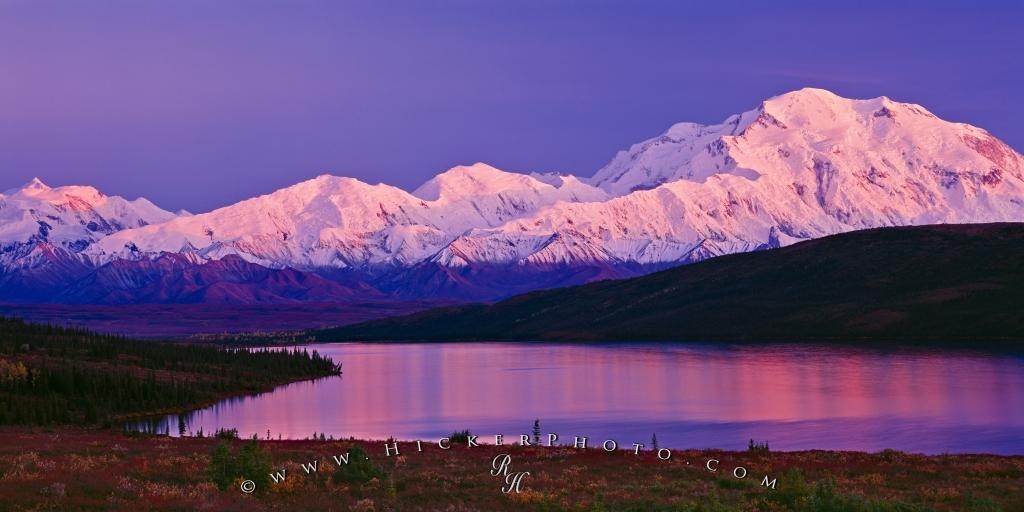 Free Wallpaper: Fall Alpenglow Mount McKinley Denali National Park Alaska