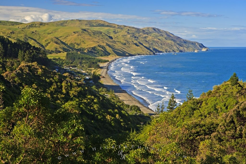 New Zealand South Island East Coast Beach Photo Information