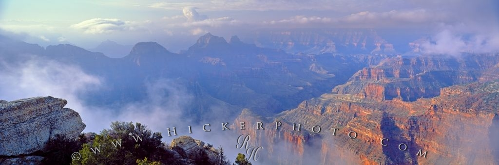 Panorama Photo Grand Canyon National Park Clouds