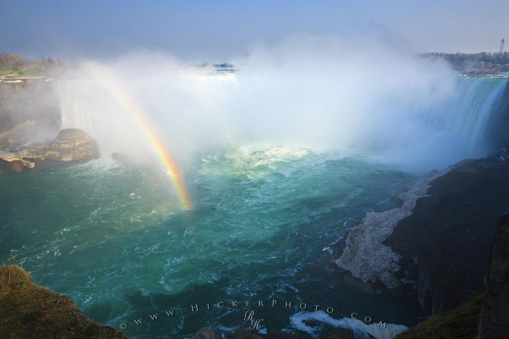 Horseshoe Falls Rainbow Niagara River Ontario