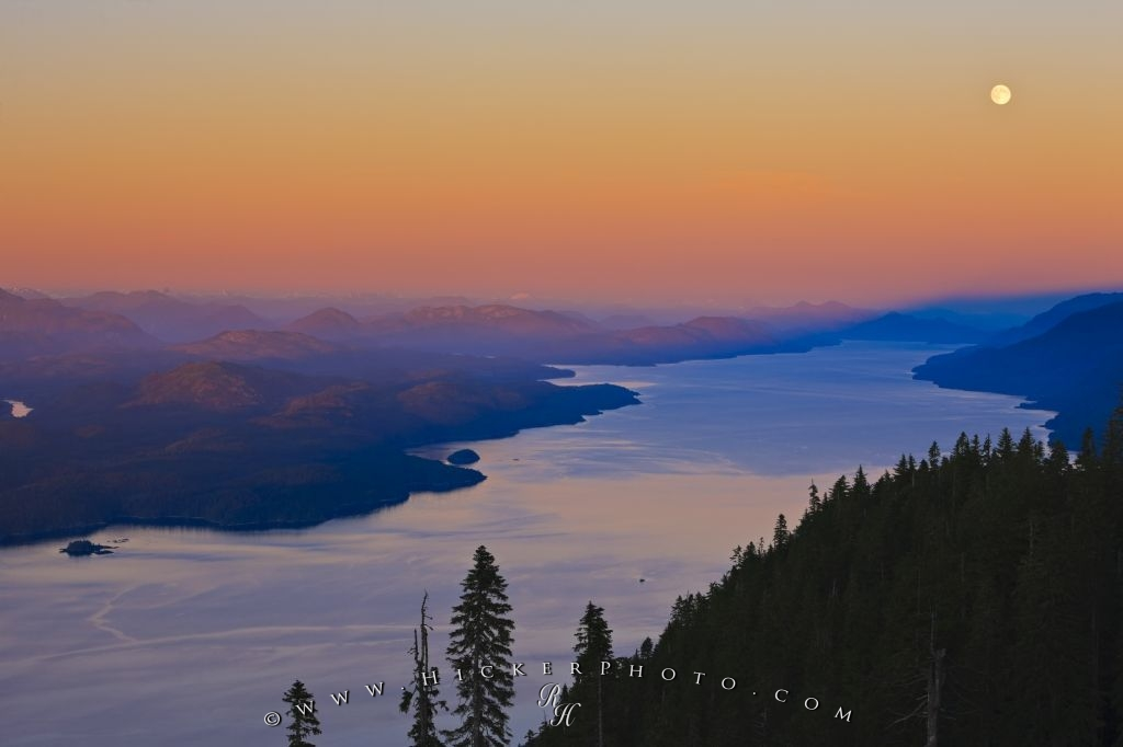Johnstone Strait Sunset Aerial