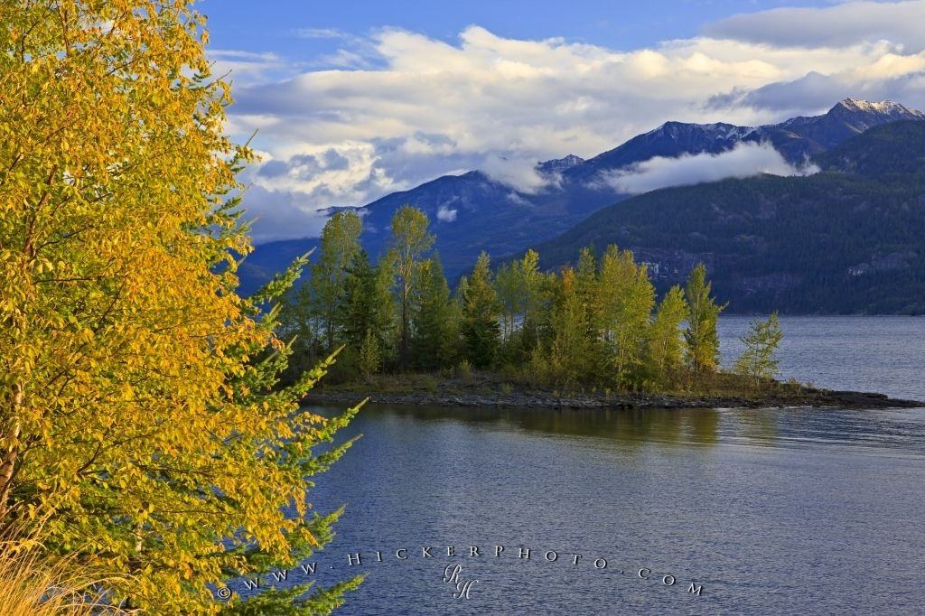 Kootenay Lake Fall Scenic View