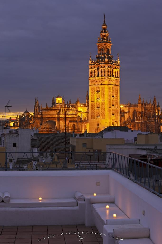 Tourist Attraction La Giralda Seville Cathedral Santa Cruz Sevilla Andalusia Spain