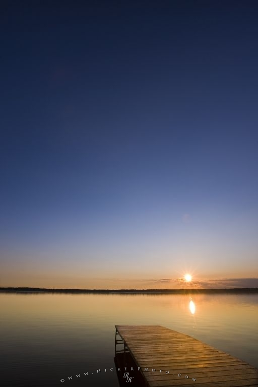 Lake Audy Sunset Riding Mountain National Park Manitoba