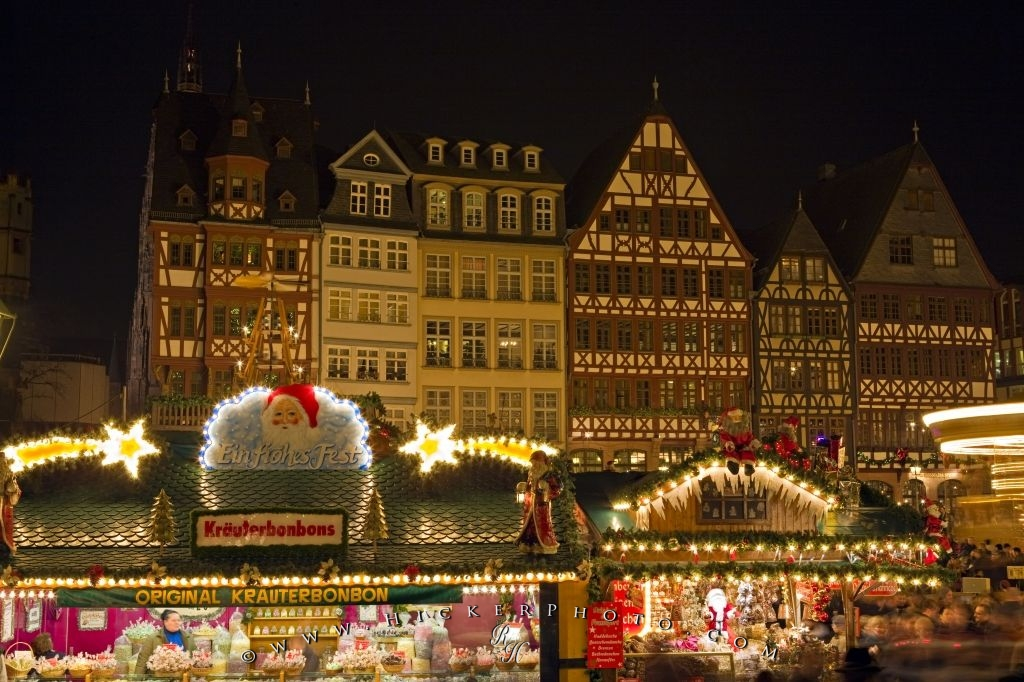 Christmas Market Historic Old Town Frankfurt
