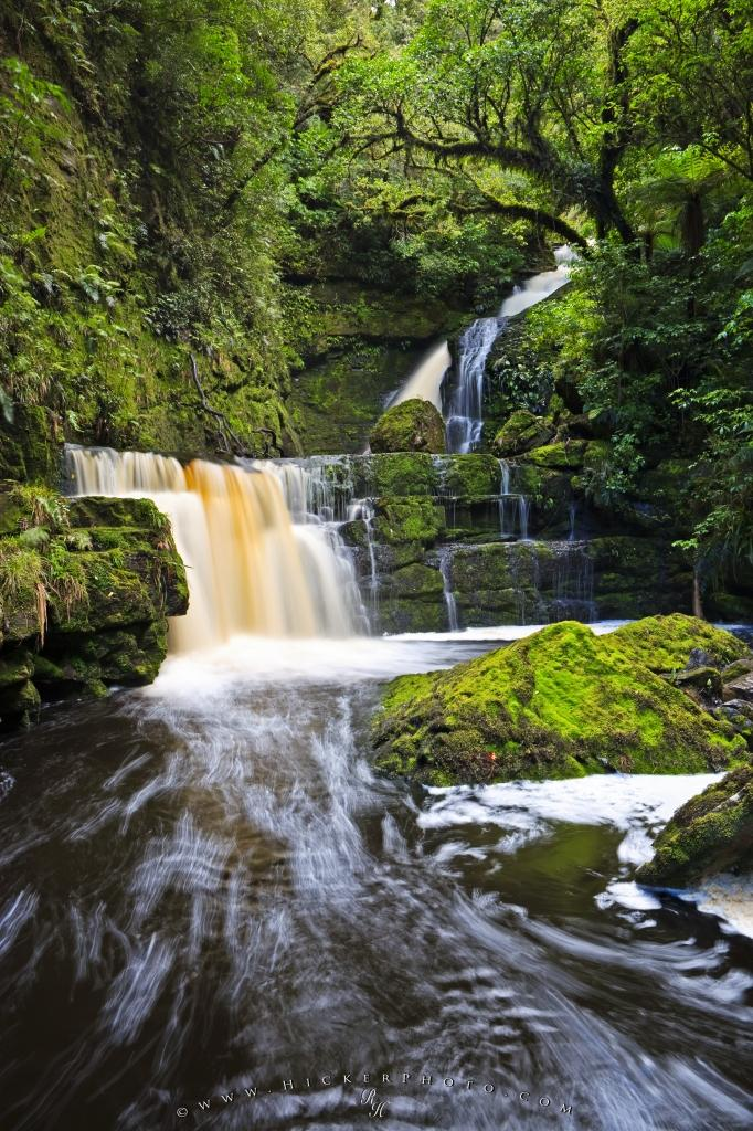 McLean Falls Waterfall Catlins New Zealand