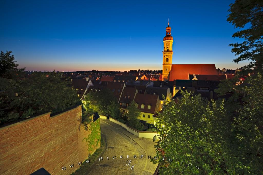 Medieval City Freising Bavaria Dusk