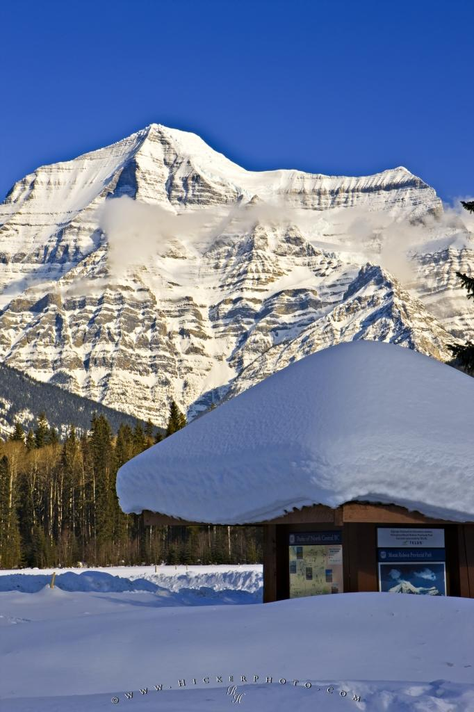 Mount Robson Snow Winter Scene