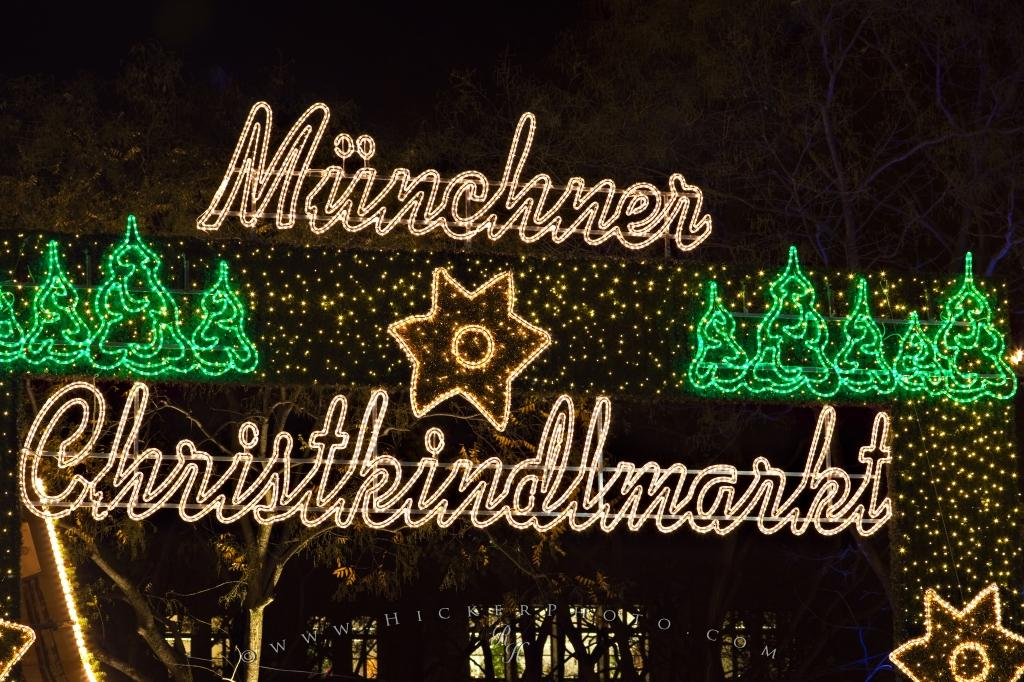 Muenchner Christkindlmarkt Sign