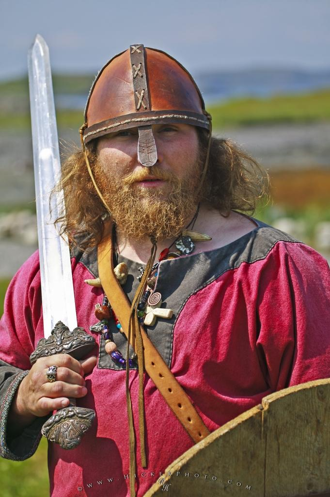 Viking Pictures Man Portrait Sword
