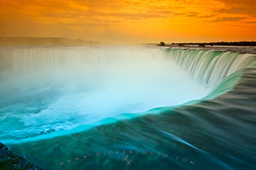 Niagara Waterfall Horseshoe Falls Sunset
