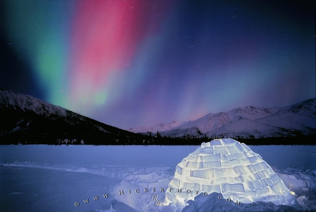 Photo Northern Lights Igloo Alaska
