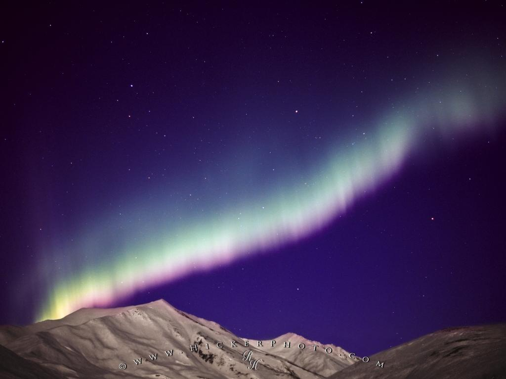 Northern Lights Brooks Range Mountains Alaska