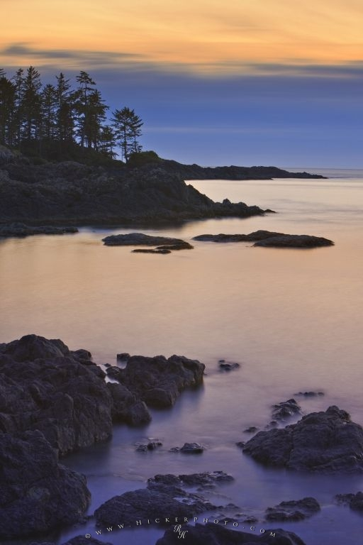 Pacific Rocky Coastline Sunset Scenery Picture