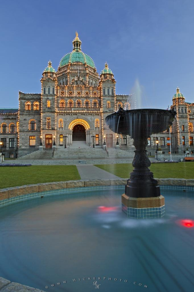 Parliament Buildings Fountain Victoria