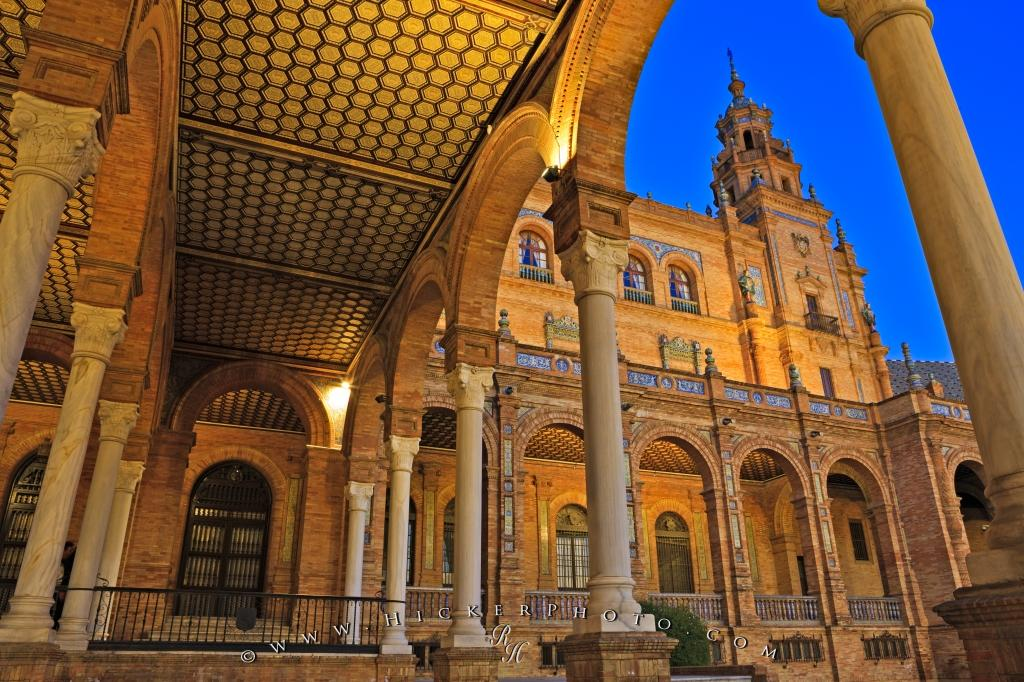 plaza de espana moorish revival architecture seville photo