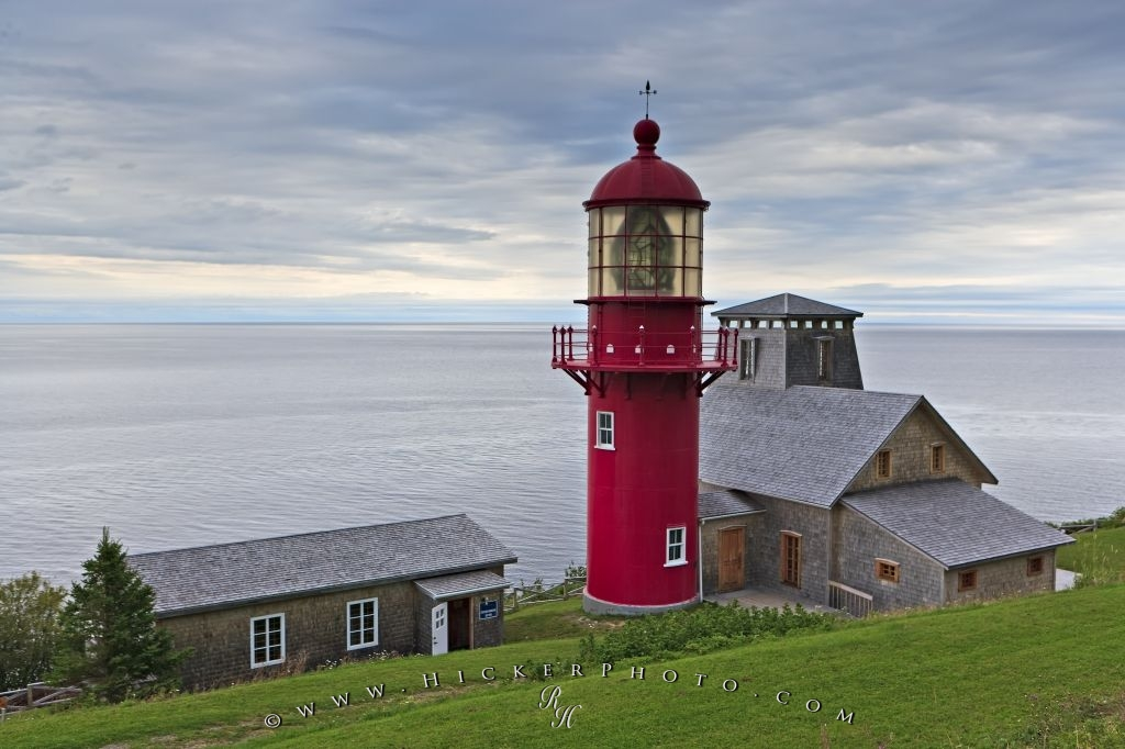 Point A La Renommee Lighthouse Gaspesie Peninsula Quebec