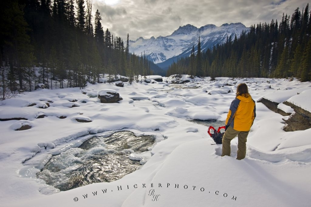 Rocky Mountains Winter Scenery Banff National Park