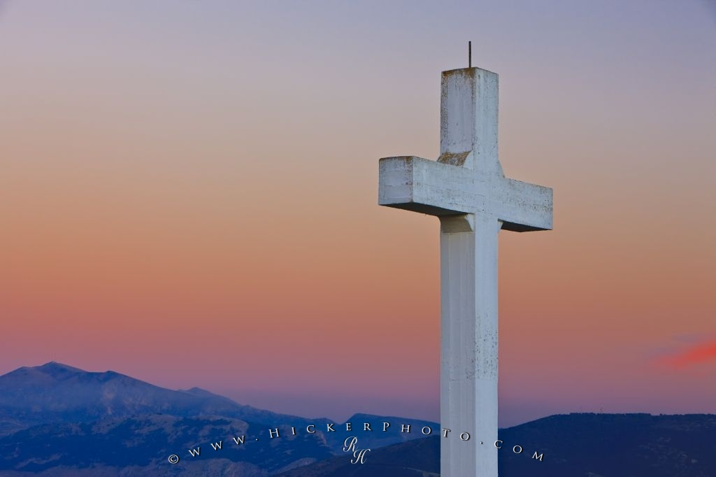 Santa Catalina Cross Sunset Province Of Jaen Andalusia