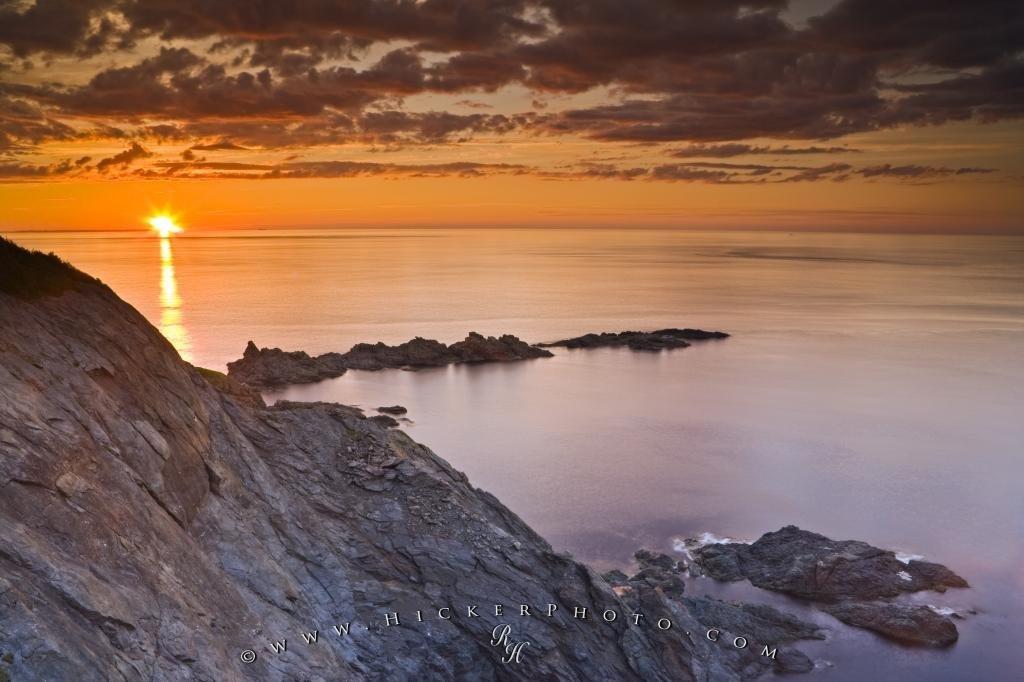 Scenic Notre Dame Coastline Sunset Newfoundland Canada