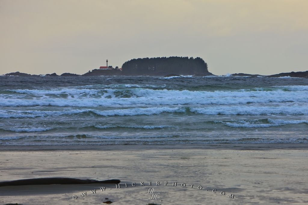Pacific Ocean Seascape Lennard Island Lighthouse Picture