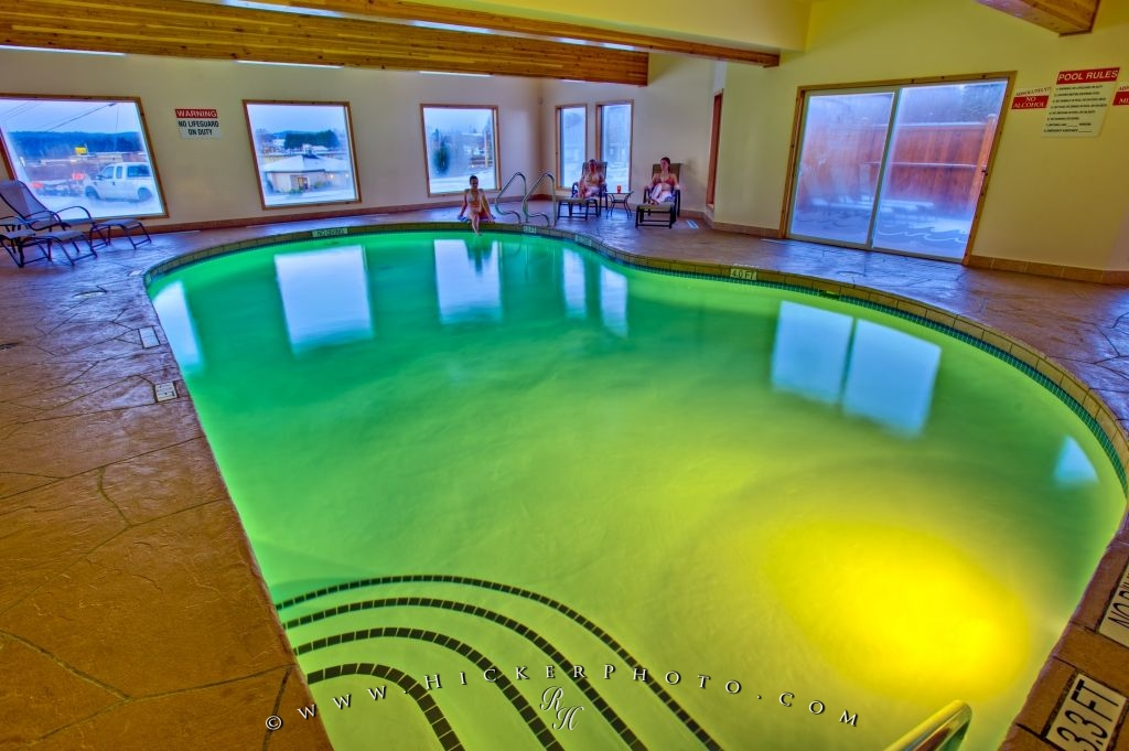 Serene Indoor Pool Picture Black Bear Resort Port McNeill