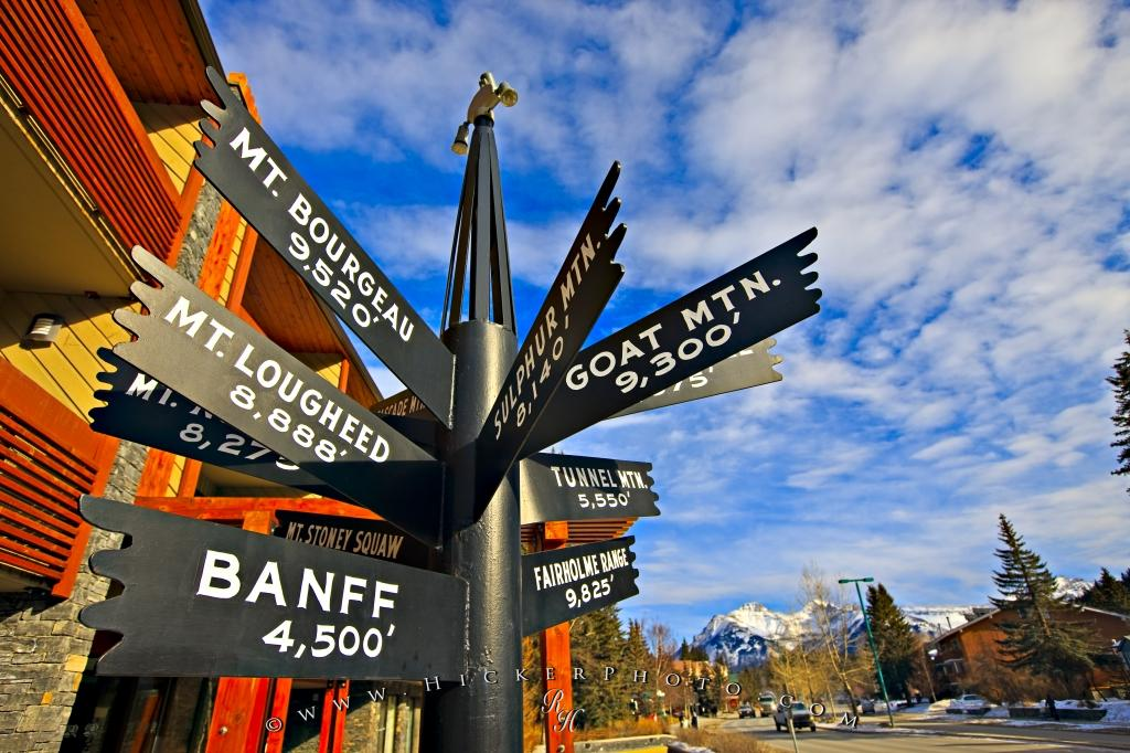 Multi Directional Sign Banff Town