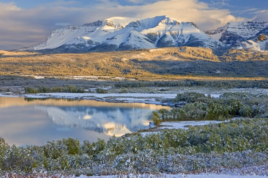 Waterton Snow Landscape Scene Picture