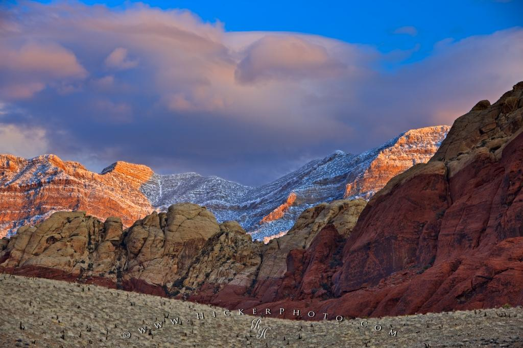 Fresh Snow Spring Mountains Red Rock Canyon