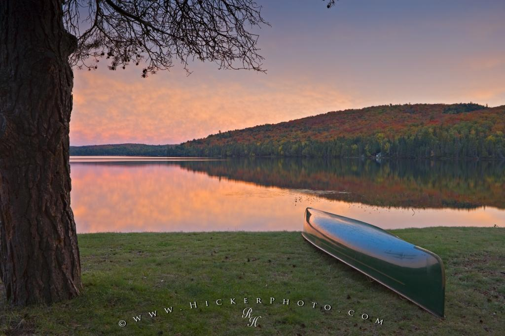 Sunset Lake Autumn Reflections Algonquin Provincial Park