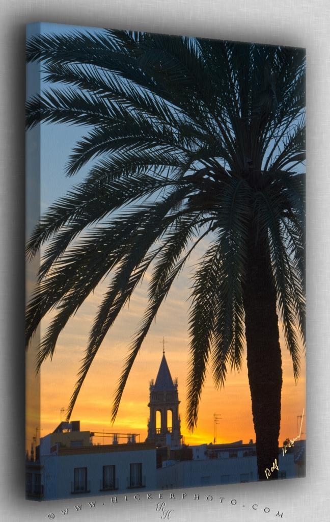 Sunset in Sevilla Spain Canvas Fine Art Photo